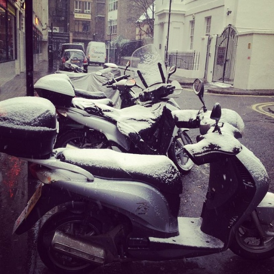 mopeds snow